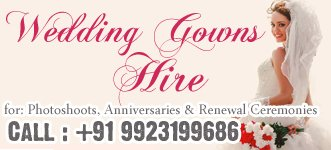 Bridal Gowns for hire - rent in Goa.